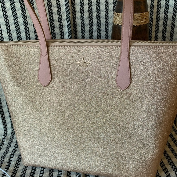 Kate spade joeley tote rose gold bag